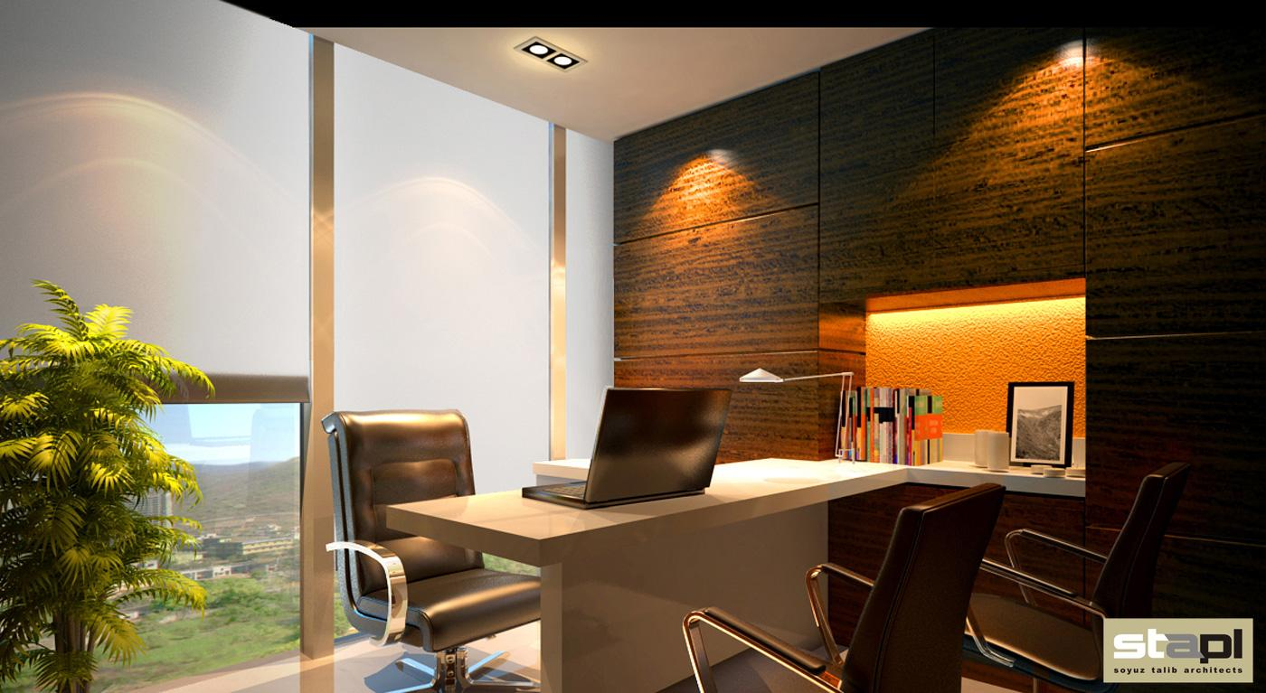 Corporate office for mnc soyuz talib architects for Corporate office decorating ideas pictures